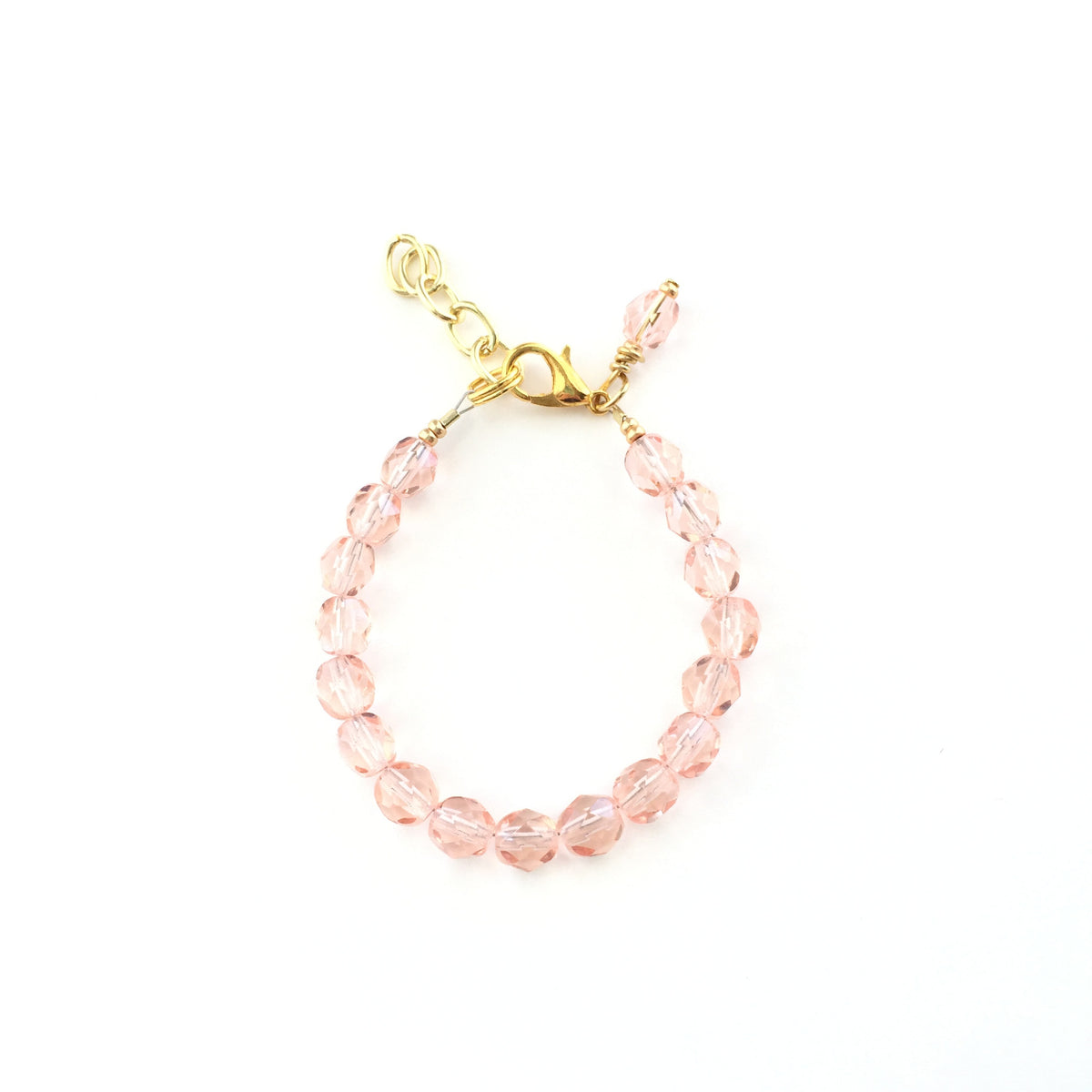 Blush Faceted Bracelet