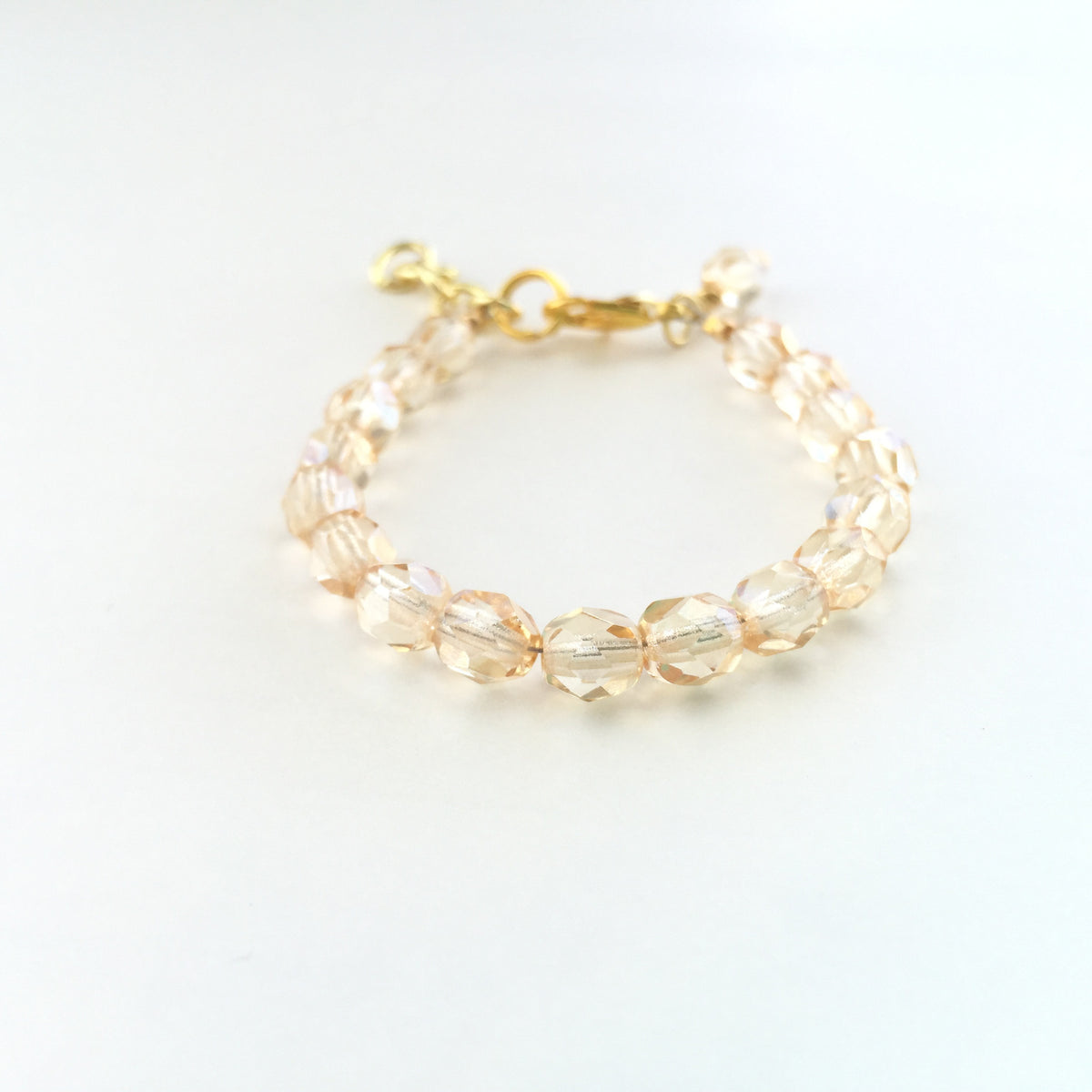 Champagne Faceted Bracelet