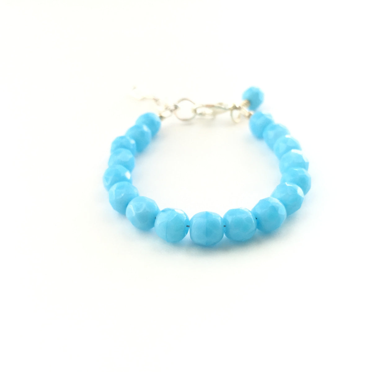 Turquoise Blue Faceted Bracelet