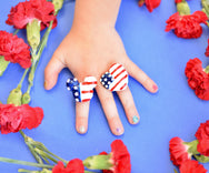Heart Red White & Blue Ring