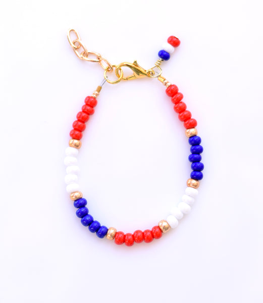 Red, White & Blue Stackable Bracelet
