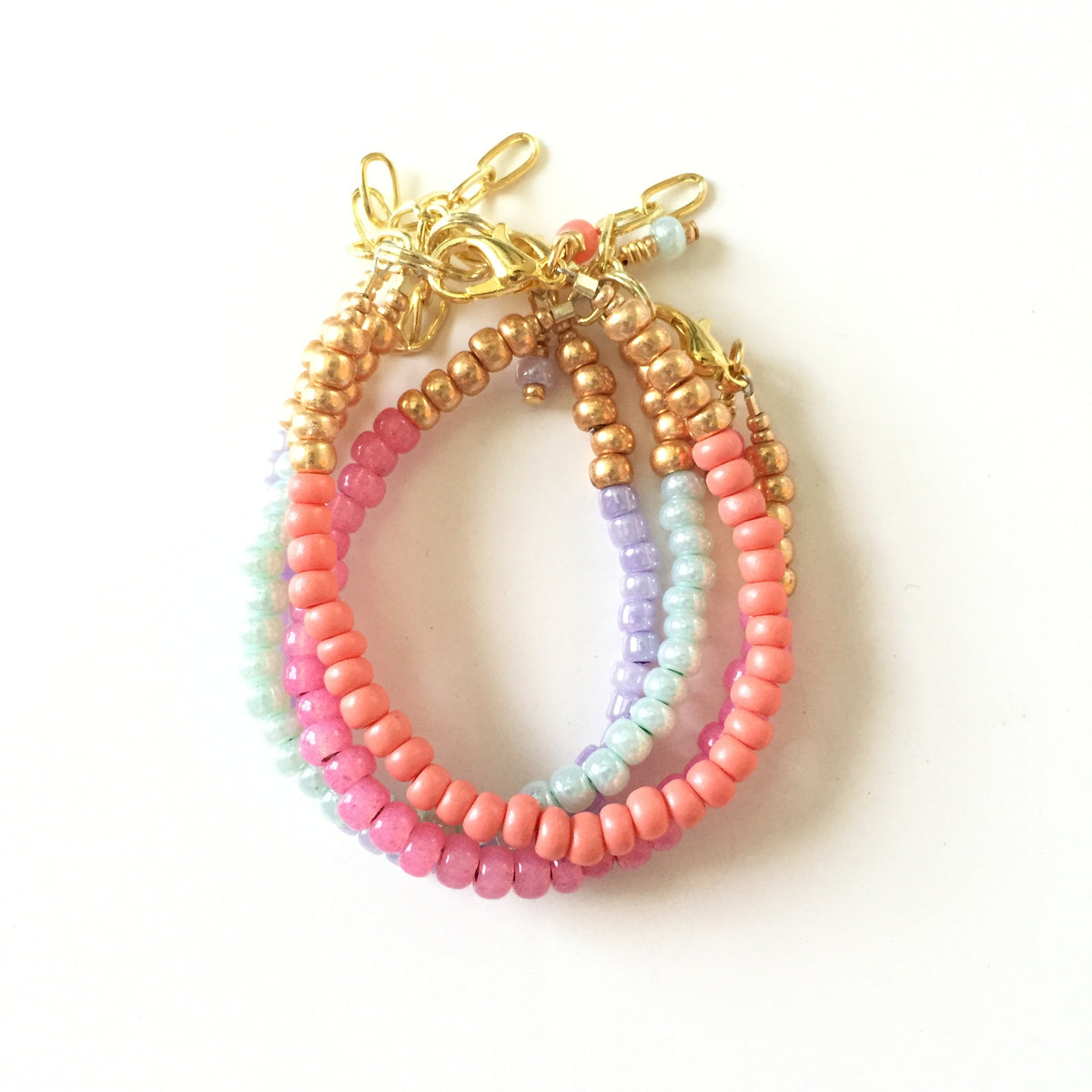Coral Stackable Bracelet