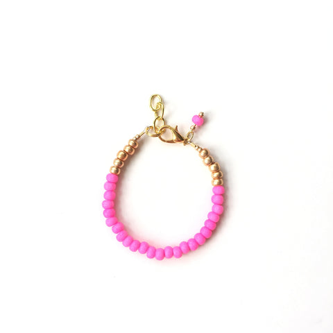 Neon Pink Stackable Bracelet