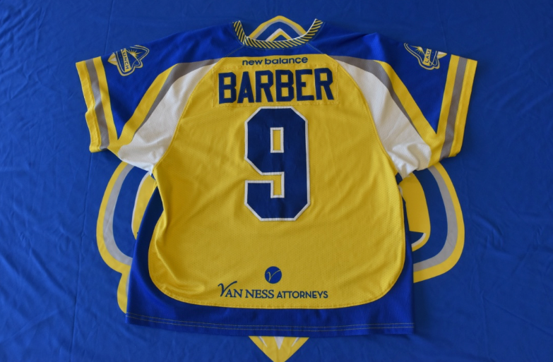 Game Worn 2018 Jersey - Tim Barber