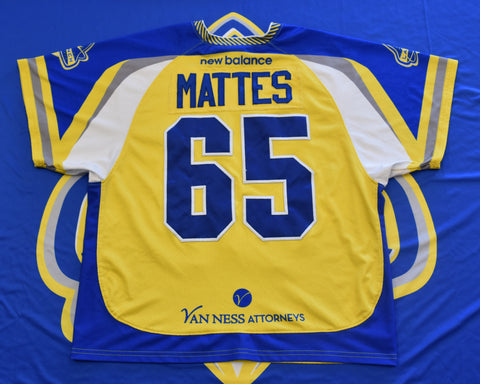2018 Game Worn Jersey: Chris Mattes