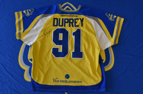 Game Worn & Autographed 2018 Jersey - Luke Duprey