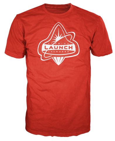 Florida Launch Red and White Logo Tee: Benefitting American Red Cross South Florida