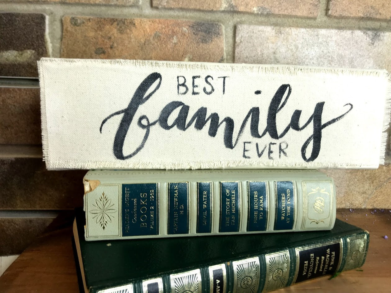 Best Family Ever Wood Blocks