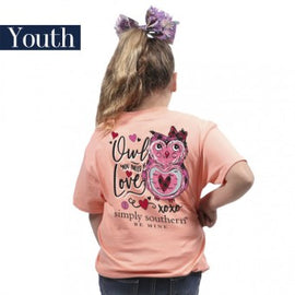 Youth Simply Southern Owl Love Tee