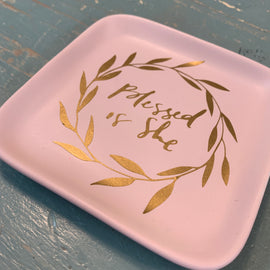 Blessed is She Trinket Dish