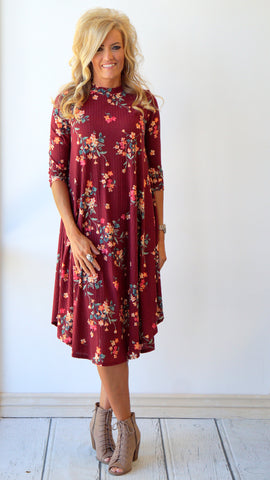 Floral Midi Dress for Spring