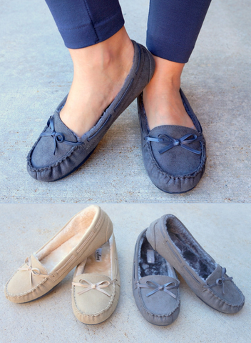 Women's Fur Lined Moccasins