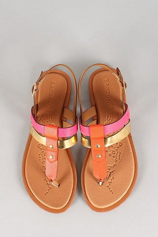 Pink & Gold Bentley Sandals