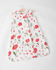 Cotton Muslin Sleep Bag - Summer Poppy