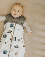 Cotton Muslin Quilted Sleep Bag - Planetary