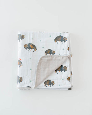 Brushed Muslin Quilt - Bison