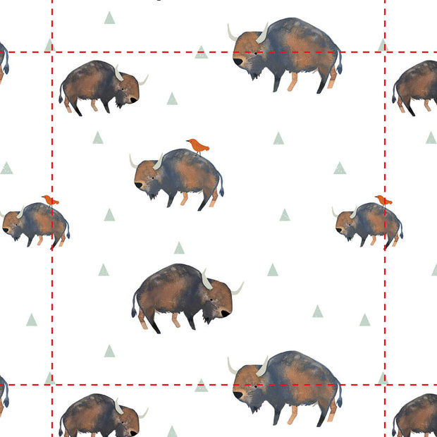 Removable Wallpaper - Bison