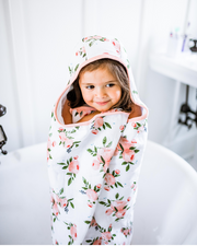 Big Kid Hooded Towel - Watercolor Roses