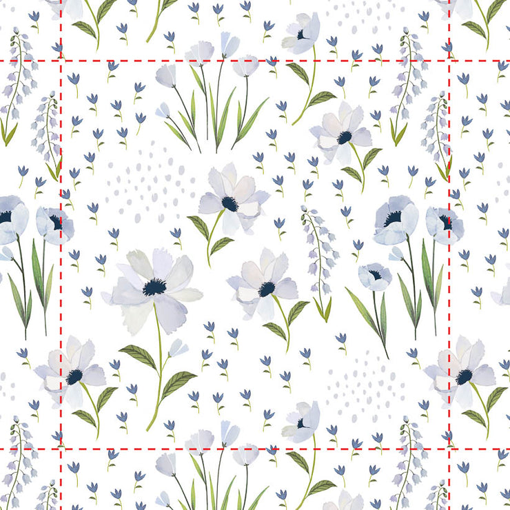 Removable Wallpaper - Blue Windflower