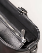 Citywalk Tote Black - Brushed Nickel Hardware