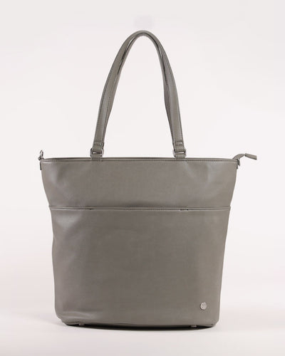Citywalk Tote Grey Umber - Brushed Nickel Hardware