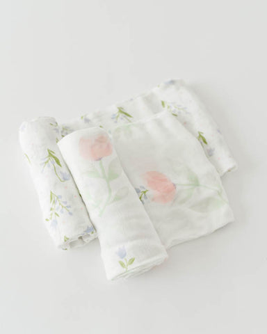 Deluxe Swaddle Set - Pink Peony