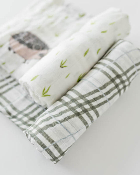 Deluxe Swaddle Set - Hedgehog