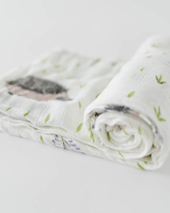 Deluxe Muslin Swaddle Single - Hedgehog