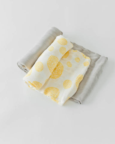 Deluxe Swaddle Set - Yellow Burst