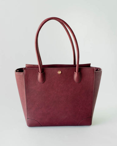 Brookside Tote - Pomegranate