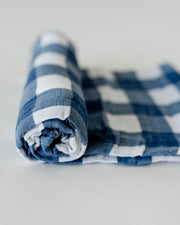 Cotton Muslin Swaddle Blanket - Jack Plaid