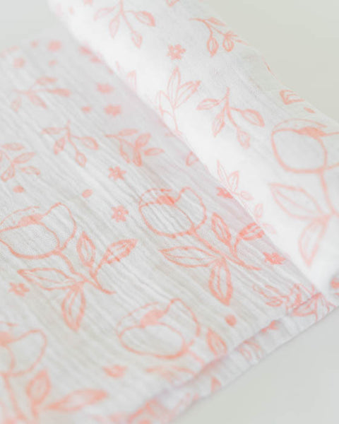 Organic Cotton Swaddle - Garden Rose