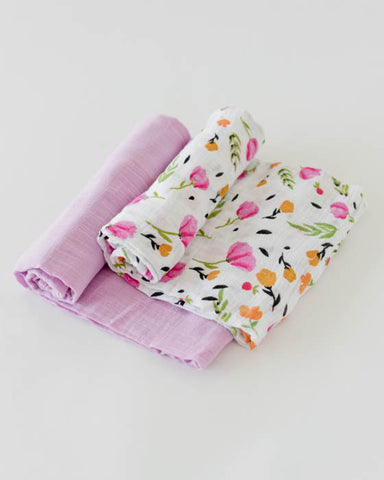 Organic Cotton Swaddle Blanket Set - Berry & Bloom