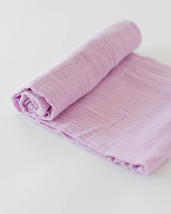 Organic Cotton Swaddle - Pink Lilac