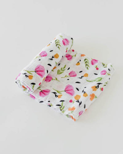 Cotton Muslin Swaddle Single - Berry and Bloom
