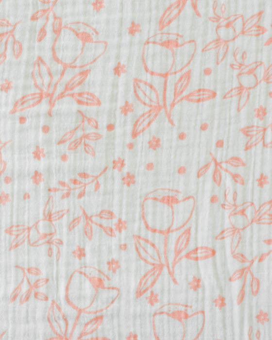 Cotton Swaddle - Garden Rose