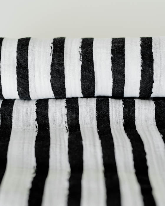 Cotton Swaddle - Ink Stripe