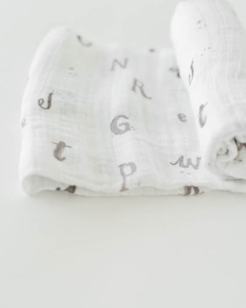 Cotton Swaddle - Hello Alphabet