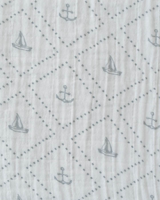 Cotton Swaddle - Anchors Aweigh