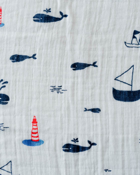 Cotton Swaddle - Nautical Harbor