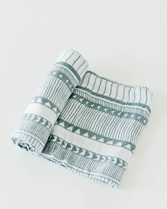 Cotton Muslin Swaddle Single - Santa Fe