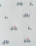 Cotton Swaddle - Bike Family