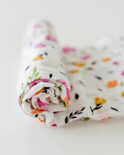 Cotton Muslin Swaddle Blanket - Berry and Bloom