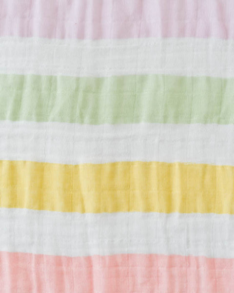 Cotton Swaddle - Cabana Stripe