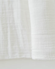 Cotton Muslin Swaddle Blanket - White