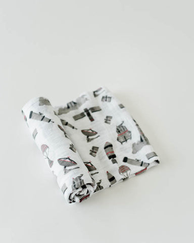Cotton Swaddle - Ground Control