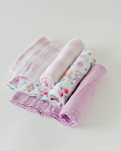 Cotton Muslin Swaddle Blanket Set - Morning Glory