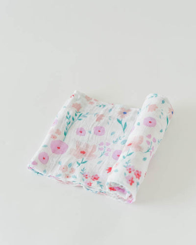 Cotton Muslin Swaddle Single - Morning Glory