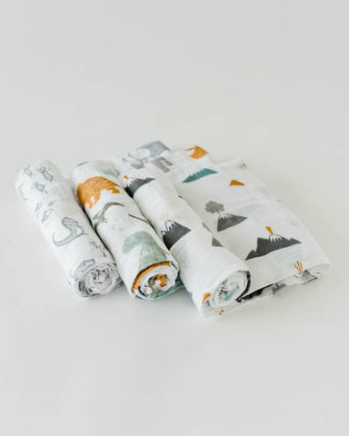Cotton Swaddle Set - Dino Friends