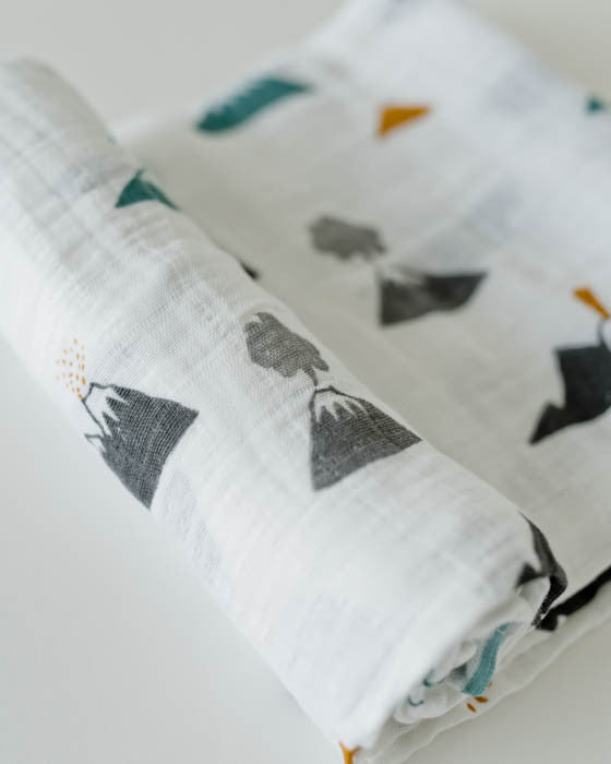 Cotton Muslin Swaddle Blanket - Lava Lava